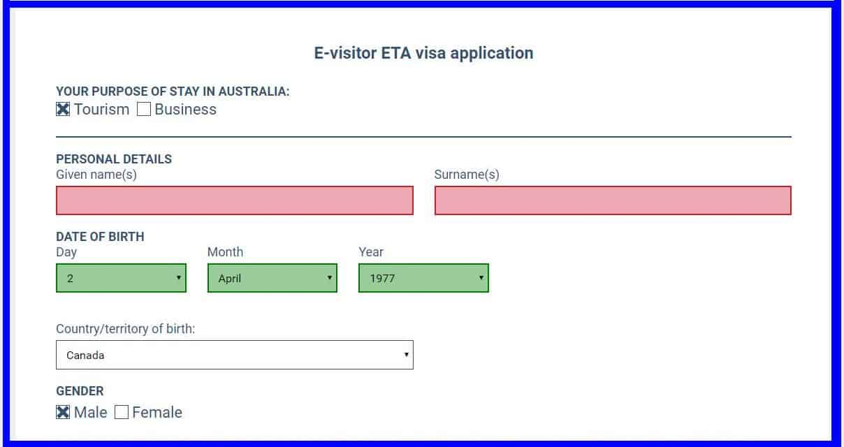 Australian Visa For Canadians For Citizens And Passport Holders