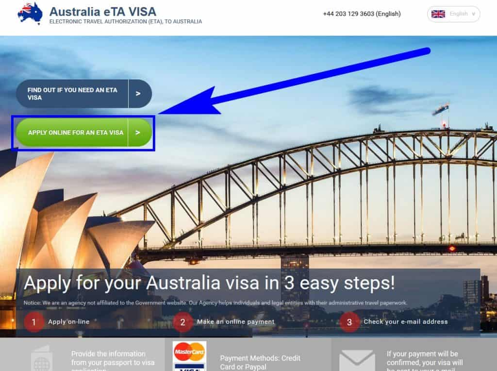 Visa for Australia from UK