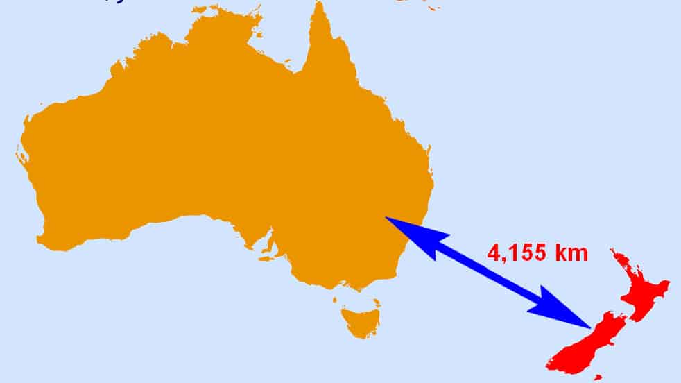 How Far Is New Zealand From Australia