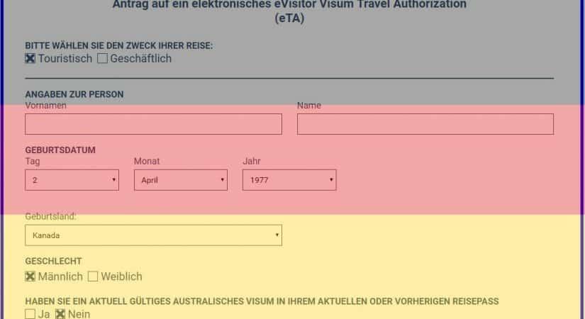 Australien Visum 651 oder 601